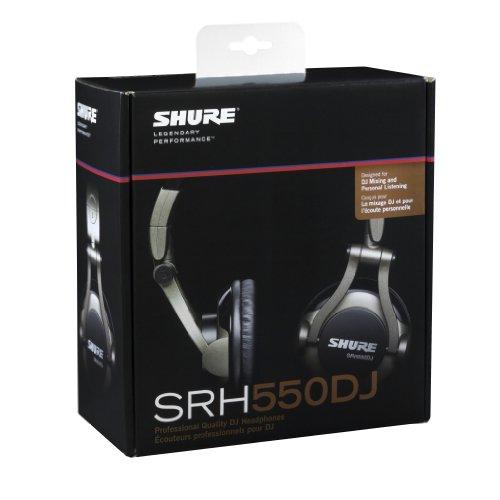 Shure SRH550DJ, geschlossener DJ-Kopfhörer / Over-ear, geräuschunterdrückend, faltbar, drehbare Ohrmuscheln, erweiterter Bass - 4