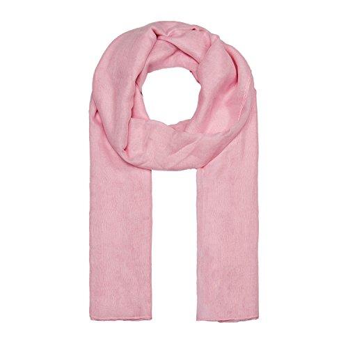 ManuMar Schal einfarbig | Hals-Tuch in Uni-Farben | einfarbig Hell-Pink als perfektes Sommer-Accessoire | klassischer Damen-Schal - Das ideale Geschenk für Frauen