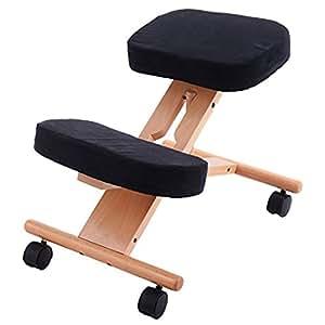 chaise de correction de la posture genoux ajustable ergonomique de wellbeing pro11 amazon. Black Bedroom Furniture Sets. Home Design Ideas