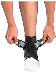 Seguridad Ajustable Neopreno Estabilizador de Multisport Tobillera de banda pies de doble apoyo estabilizador Polar Ortesis Wrap Deporte Protege Terapia de compresión de pie Wrap, mujer hombre, negro, talla única