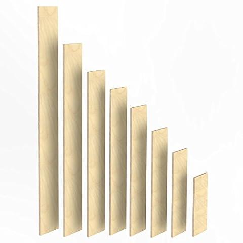 100mm Holz Bretter 18mm Multiplex Brett-Zuschnitte Längen 1m - 2m Birke Sperrholz Brett Länge: 1960 mm