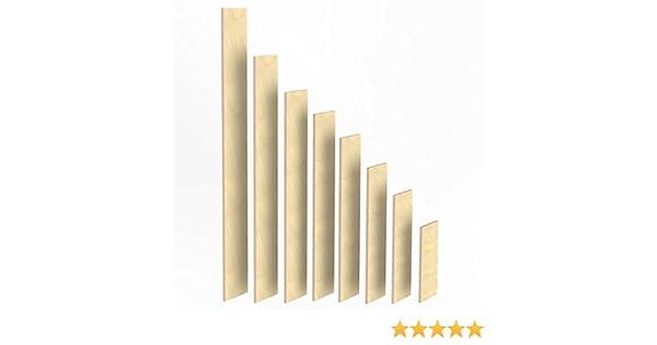 2m Birke Sperrholz Brett L/änge 1540 mm 150mm Holz Bretter 27mm Multiplex Brett-Zuschnitte L/ängen 1m