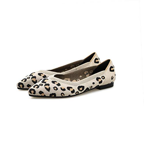 Comfortsoft Camo (Frauen Leopard Bootsschuhe Karree Casual Comfort Soft Flache Schuhe Slip on Loafers)