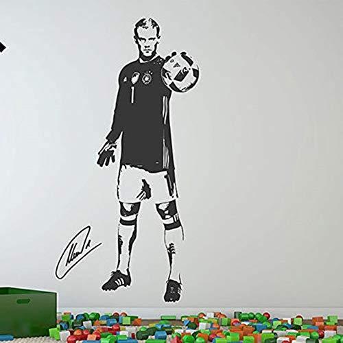 v Wandtattoos Fußballstar Manuel Neuer Aufkleber für Kinderzimmer und Schule mit umweltfreundlichem abnehmbarem Klebstoff [Größe: 43x86cm] ()