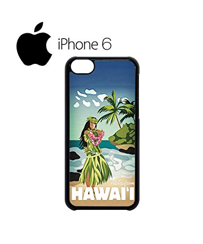 Hawaii Hula Girl Aloha Cool Swag Mobile Phone Case Back Cover Hülle Weiß Schwarz for iPhone 6 White Schwarz