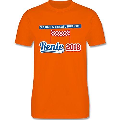 Shirtracer Sonstige Berufe - Rente 2018 Sie Haben Ihr Ziel Erreicht - Herren T-Shirt Rundhals Orange