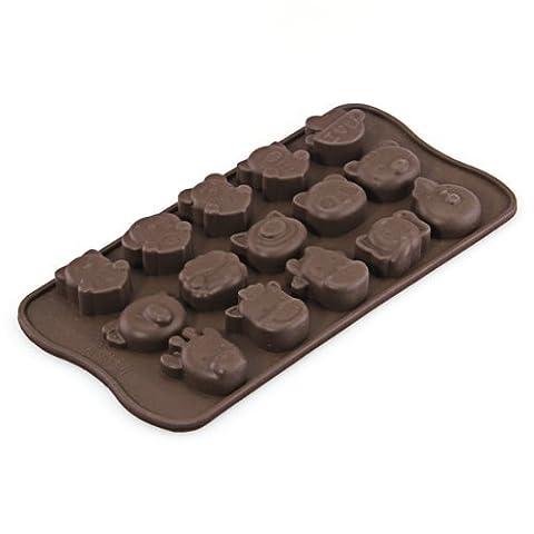 Coque en silicone Animal Chocolat Bonbon Savon Moule Bac à Glaçons Moule