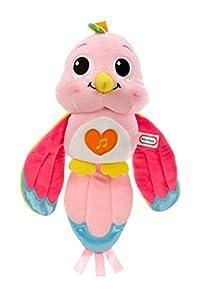 little tikes Lullaby Lovebird Animales de Juguete Felpa Cian, Rosa - Juguetes de Peluche (Animales de Juguete, Cian, Rosa, Felpa, Chica, 10 min, 10 s)
