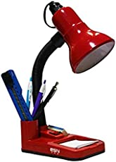 ESN 999 Stylish Red Table Lamp With 7 Watt LED Bulb For Home/Office/Study
