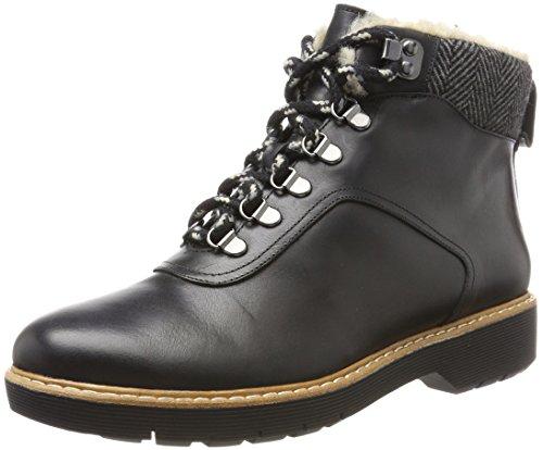 Clarks Damen Witcombe Rock Stiefel, Schwarz (Black Leather), 39 EU