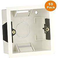10 x portamecanismos empotrable modessimple pared caja 1 Gang interruptor de toma eléctrica