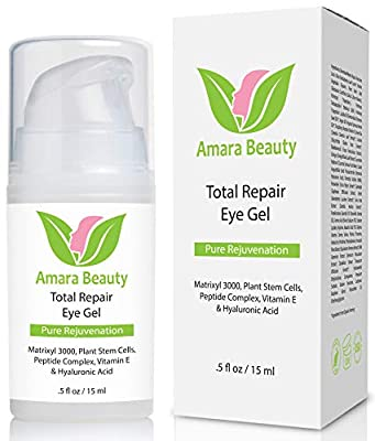 Eye Cream Gel For Dark Circles & Puffiness with Peptides & Hyaluronic Acid - 15 ml