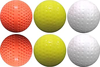 Port Multicoloured Field Hockey Turf Balls (in The Box 6 Balls) (Multicoloured)