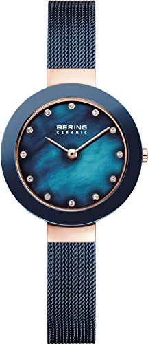 Bering Damen-Armbanduhr 11429-367, Blau (Danish Design Uhrenarmband)