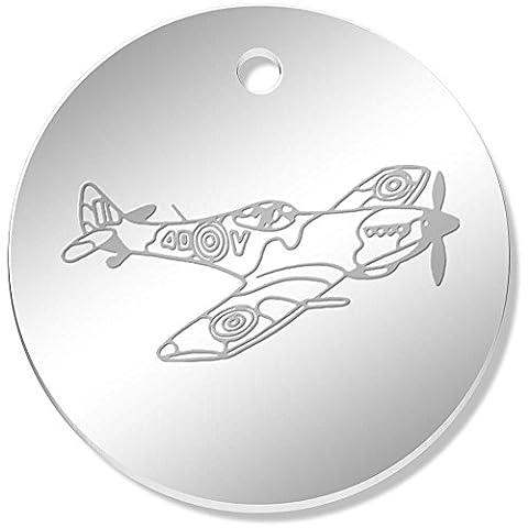 11 x 34mm 'Avion Spitfire' pendentif miroir (PN00040280)