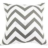 Alcoa Prime 45cm Gray Wave Stripe Cotton Throw Pillow Case Cushion Cover Home Decor