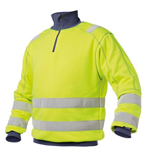 DENVER Warnschutz Sweatshirt von Dassy Gelb/Dunkelblau XL
