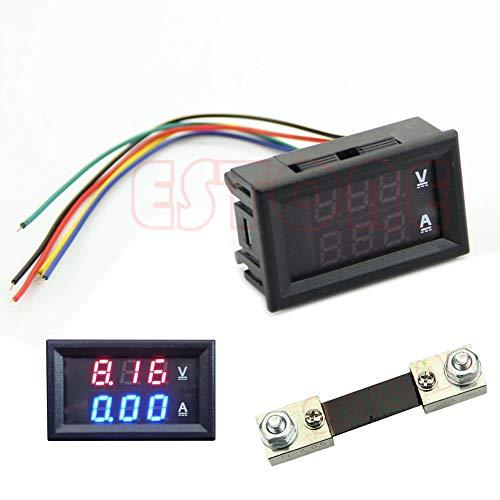 Cutebility, voltmetro Digitale a Doppio LED, DC 100 V, 100 A, amperometro, voltmetro, amperometro, Corrente, shunt, multimetro Digitale