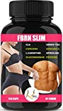 FBRN SLIM 120 Capsule Bruciagrassi Potenti Uomo Donna | Integratore Dimagrante per Perdere Peso | Top per Pancia Piatta, Addome, Gambe e Glutei