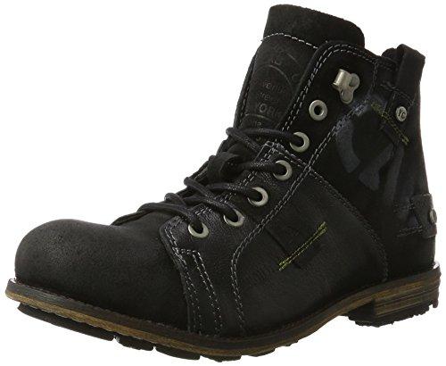 Yellow Cab Herren Industrial M Biker Boots, Schwarz (Black 000), 43 EU