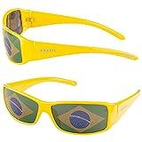 Taffstyle® Fanartikel Sonnenbrille Fan Brille zur Fussball Weltmeisterschaft WM & EM Europameisterschaft 2016 Länder Flagge Style - Brasilien