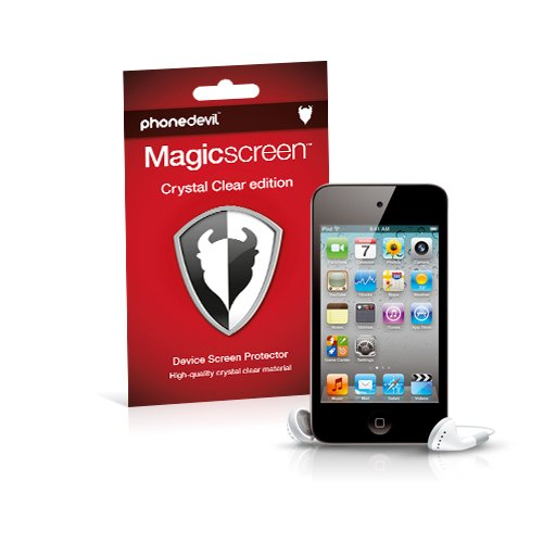 4th Protector Ipod Screen (MediaDevil Apple iPod Touch 4G/4. Generation (2010-2011) Displayschutzfolie: Magicscreen Crystal Clear (Unsichtbar) Edition - (2 x Schutzfolien))