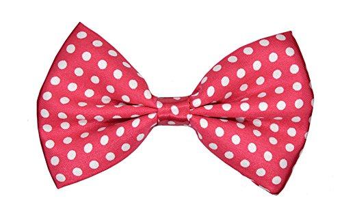 Accmall Motif à pois avec nœud Coffret & porte-jarretelles Multicolore - Pink, white