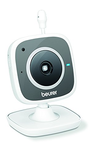 Beurer BY-88 - Vigila bebés, compatible con App Carecam, color blanco y gris