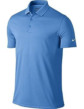 Nike Victory Solid, Camiseta Polo de Golf para Hombre, Multicolor (University Blue/White), XXL