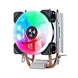 Womdee RGB CPU-Kühler, Kühlkörper, CPU-Lüfter, kühles Farblicht, LED und leiser PC-Kühler, weit verbreitet in Allzweckmodellen, 120 x 120 mm