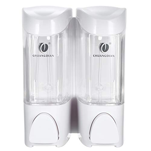 Decdeal 300ml x 2 Dispensadores de Jabón Manuales de Pared Líquido Dispensador y Soporte de Jabón para Shampoo Box Gel de Ducha