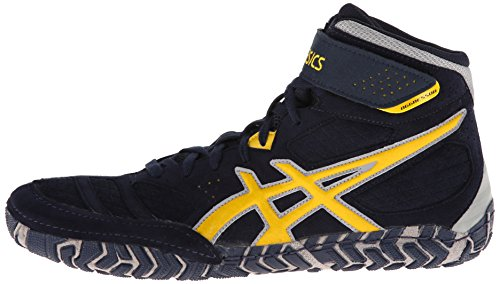 Asics - Mens Aggressor 2 Shoes, UK: 10.5 UK, Navy/Sunflower/Silver
