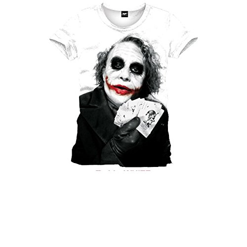 Batman Joker Poker Camiseta Blanco XL
