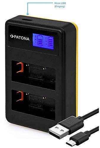 Patona 181957 - LCD Dual Cargador USB Conector batería
