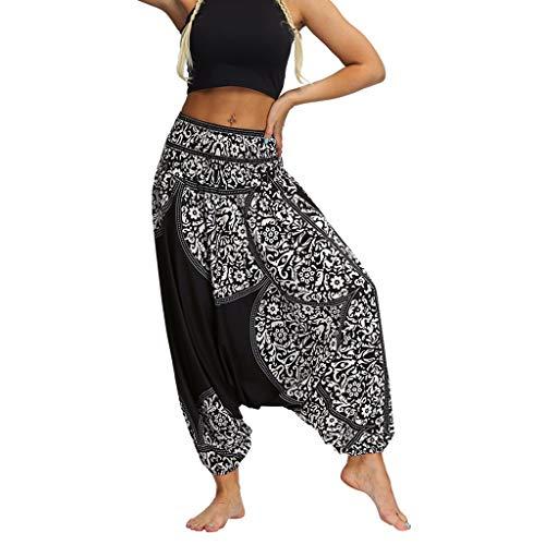 YWLINK 2019 Damen Kleidung,Frauen BeiläUfige Sommer Lose Yoga Hosen Elegant Baggy Boho Aladdin Overall Pluderhosen ...