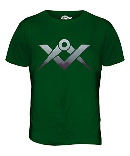 CandyMix Zirkel Wald Herren T Shirt Flaschengrün