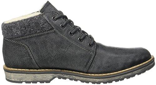 Rieker Mens 39201 Classic Boots Nero (nero / Granito)