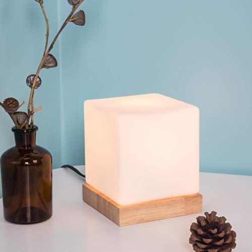 LED Tisch Lampe Bedside Lighting Glass Ice Cube Light Creative Night Lights for Home,White,12.5X12.5X15CM