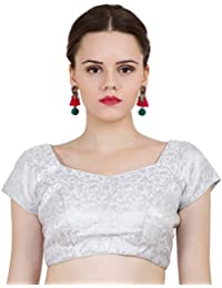 5a7e021e4f8263 Amazon.in  Silvers - Blouses   Ethnic Wear  Clothing   Accessories