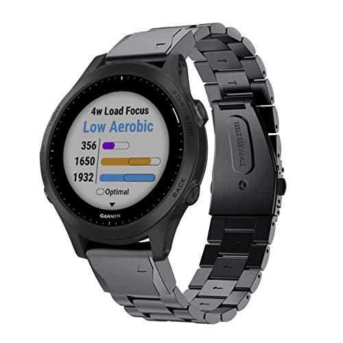 VICARA - сменный ремешок для умных часов Garmin Forerunner 945 (нержавеющая сталь)