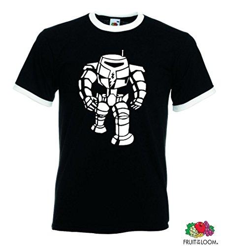 world-of-shirt Herren Retro T-Shirt Big Bang Theory Cooper Roboter Schwarz
