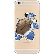 iPhone 5c Pokemon Caja de Silicona / Blastoise Cubierta de Gel para Apple iPhone 5C / Protector de Pantalla y Paño / iCHOOSE