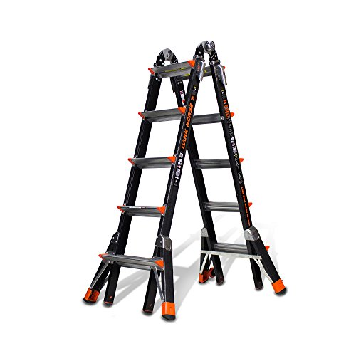 Little Giant 5 Rung Dark Horse Fibreglass Multi-Purpose Ladders, Model 22 | Little Giant Ladder System