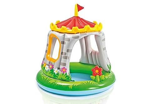 Piscine pour enfants château avec pare-soleil