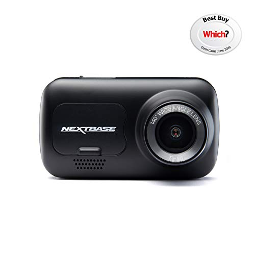 Nextbase 222 - Dash Cam, Car Dash Camera - Full 1080p/30fps HD Recording DVR Cam - 140° Wide Viewing Angle - GPS - SOS Emergency - Polarising Filter Compatible - Black