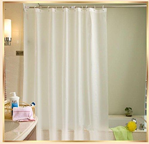GFYWZ PEVA impermeabile muffa ispessito opaco doccia tenda Beige bianco viola bagno porta tenda , white , 2.6*2 m high