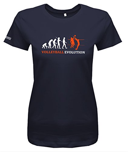 Volleyball Evolution - Damen T-Shirt in Navy by Jayess Gr. M