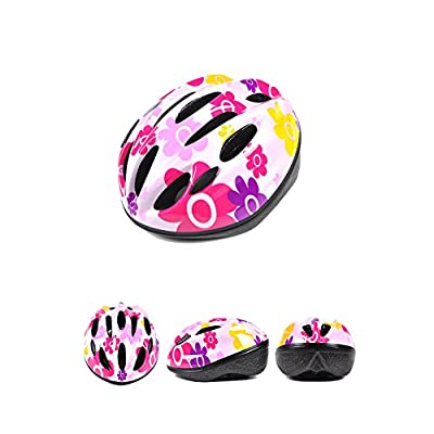 Lazy Puppy Pink / Blue Bike Cycle Open Face Kids Helmet and Pads Set for Girls Boys by Lazy Puppy