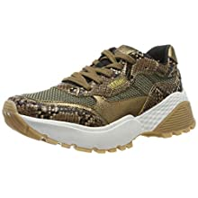 s.Oliver Women's 5-5-23610-23 Low-Top Sneakers, Brown (Brown Snake 329), 5.5 UK