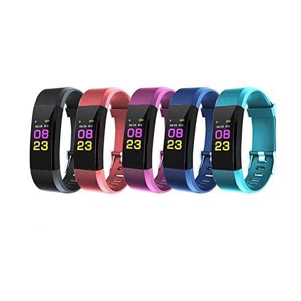 Maju Smartfit Fitness Tracker - Pulsera de actividad para fitness, con corazón, color rojo 2